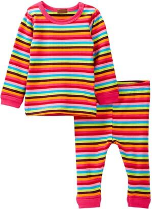 Coccoli Multi Stripe Tee & Legging Set