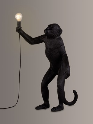 Seletti Standing Monkey Table Lamp, Black