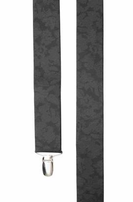 Tie Bar Refinado Floral Black Suspender