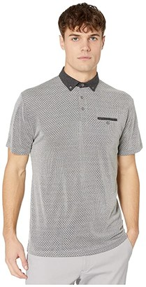 Ben Sherman Jacquard Jersey Body Polo (Grey) Men's Clothing