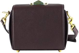 Alexander McQueen Burgundy Leather Handbags
