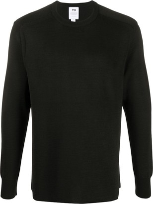 Y-3 Logo Intarsia Relaxed-Fit Jumper