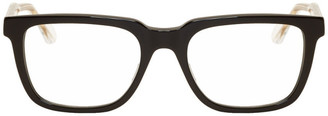 Gucci Black and Transparent Square Glasses