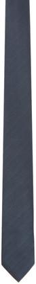 Brioni Navy and Black Silk Tie
