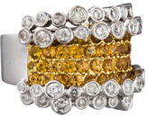 Ring 18K Yellow Sapphire & Diamond Band