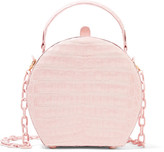 Nancy Gonzalez Crocodile Shoulder Bag - Pastel pink