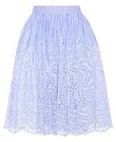 Miu Miu Embroidered Cotton Skirt