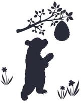 Wallcandy Chalk Bear Decal