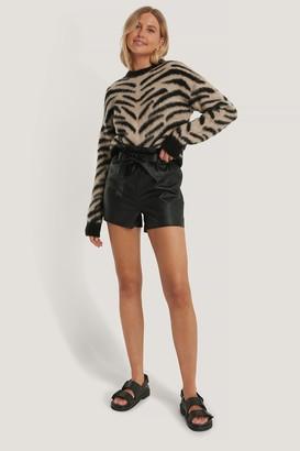 NA-KD Zebra Knitted Brushed Sweater