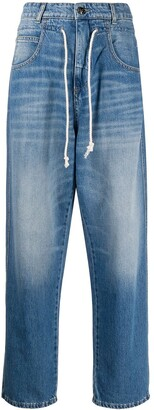 Semi-Couture Straight Leg High-Rise Jeans