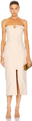 Dion Lee Pocket Bustier Dress in Birch | FWRD