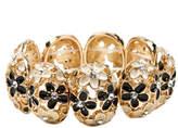 Amrita Singh Fleur Crystal & Resin Floral Stretch Bracelet