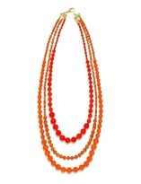 The Limited Long Beaded Triple Strand Necklace