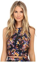 Nicole Miller 3D Floral Poppy Crop Top