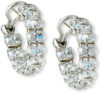 FANTASIA Cubic Zirconia Hoop Earrings, 7/8""