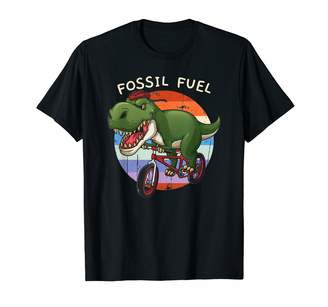 Fossil Cycopath Cycling Apparel Co. Fuel T Rex Cyclist Bicycle Riding Funny Cute Gift T-Shirt