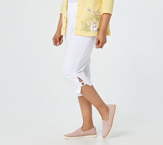 Quacker Factory French Terry Capris with Grommet