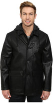 Kenneth Cole New York Faux Leather Moto w/ Hood