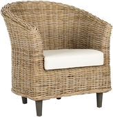 Safavieh Eleanor Woven Barrel Chair, White