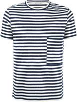Moncler striped short sleeve T-shirt - men - Cotton/Linen/Flax - S