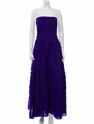 Oscar de la Renta 2006 Long Dress Purple