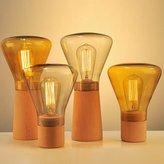 Injuicy Lighting Weis Retro Contracted Desk Lamp Creative Reading Wood/Glass Desk Lamp Adjustable Brightness (B Grey)