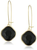 T Tahari Gold Jet Euro Drop Earrings