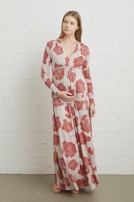 Maternity Long Sleeve Full Length Caftan Dress