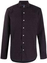 Barba floral patterned corduroy shirt