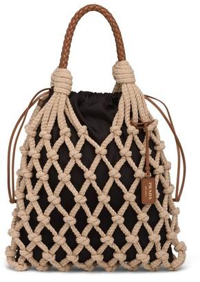 Prada Knotted Cord Tote Bag