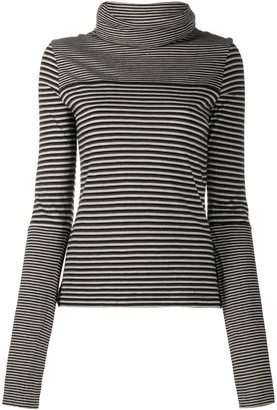 Chanel Pre Owned 2005 Striped Roll-Neck Jumper