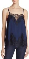 Alice + Olivia Sondra Lace-Trimmed Silk Camisole Top