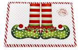 """Carnation Home Fashions Elf Shoes"""" Holiday Placemat, Set of 4"""