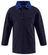 Roberto Cavalli Navy Branded Pique Polo