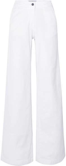 Vanessa Bruno Jay High-rise Wide-leg Jeans - White