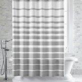 Crate & Barrel Hampton Stripe Grey Shower Curtain