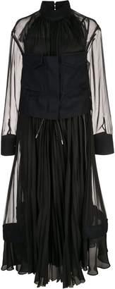 Sacai Chiffon Utility Dress