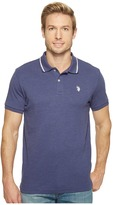 U.S. Polo Assn. Slim Fit Short Sleeve Solid Interlock Polo Shirt