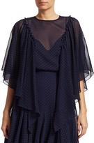 Chloé Chiffon Studded Blouse