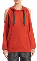Brunello Cucinelli Cashmere Cold Shoulder Hoodie