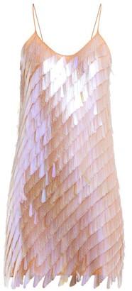 Ashish Teardrop-sequinned Mini Dress - Beige