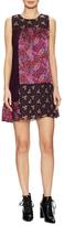 Anna Sui Silk Paneled Shift Dress