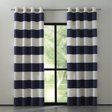 Crate & Barrel Alston Ivory/Blue Striped Curtains