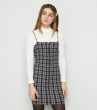 New Look Girls Check Zip Dress