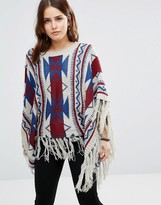 Raga Geo-Tribal Dreams Geo Pattern Poncho