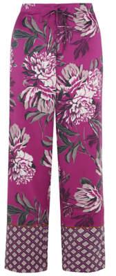 George Deep Pink Floral Satin Pyjama Bottoms