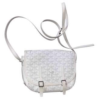 Goyard Belvedere White Leather Handbags
