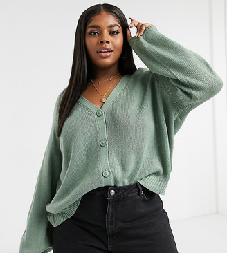 Only Curve cardigan in green