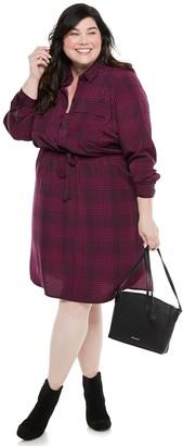 Plus Size EVRI Utility Shirt Dress