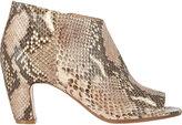 Maison Margiela Women's Peep-Toe Side-Zip Ankle Boots-NUDE